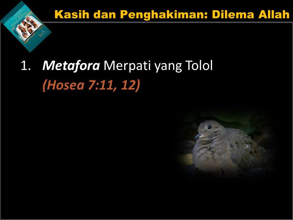 Kasih dan Penghakiman: Dilema Allah 1. Metafora Merpati yang Tolol (Hosea 7:11, 12)