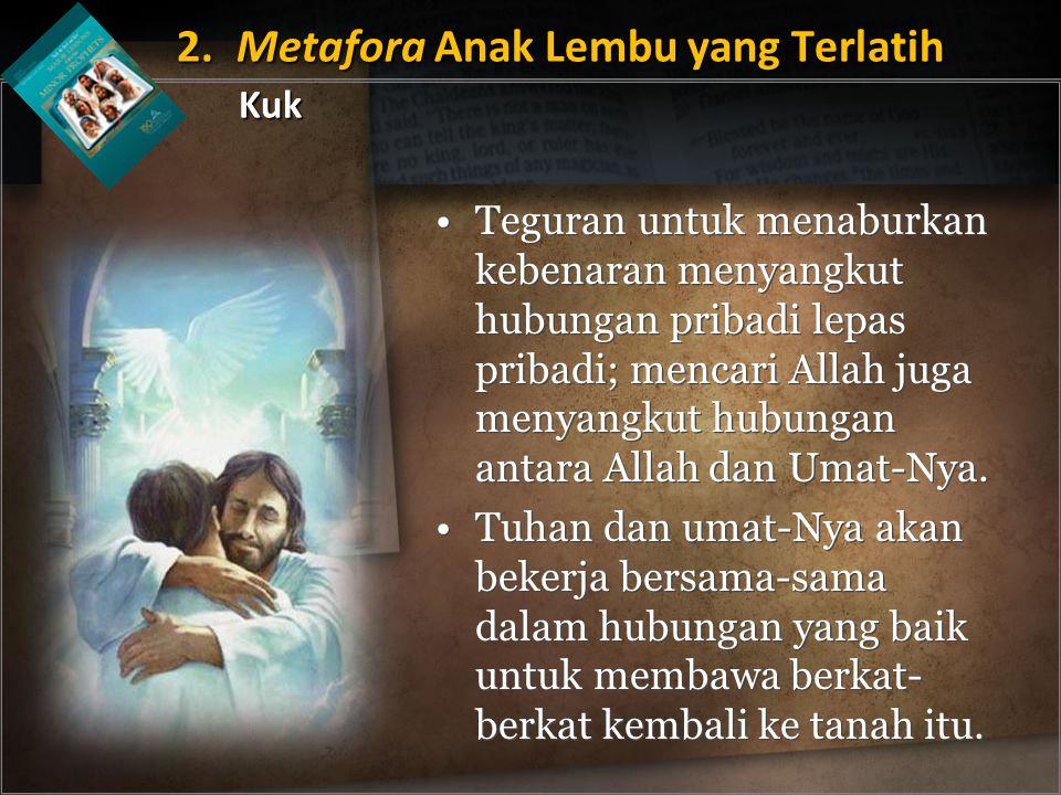 Teguran untuk menaburkan kebenaran menyangkut hubungan pribadi lepas pribadi; mencari Allah juga menyangkut hubungan antara Allah dan Umat-Nya.