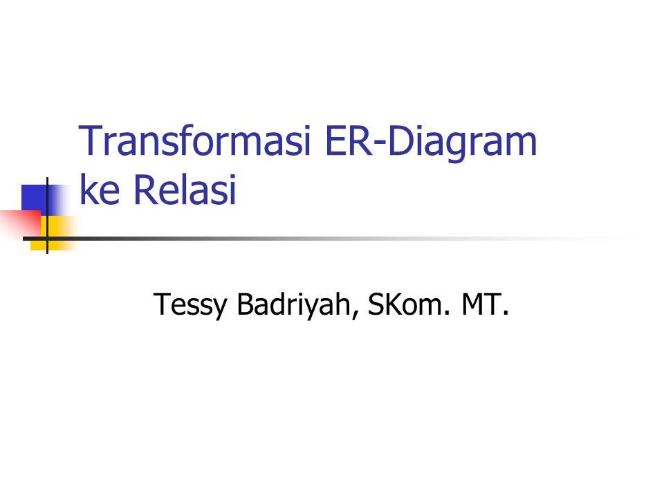 Transformasi ER-Diagram ke Relasi Tessy Badriyah, SKom. MT.