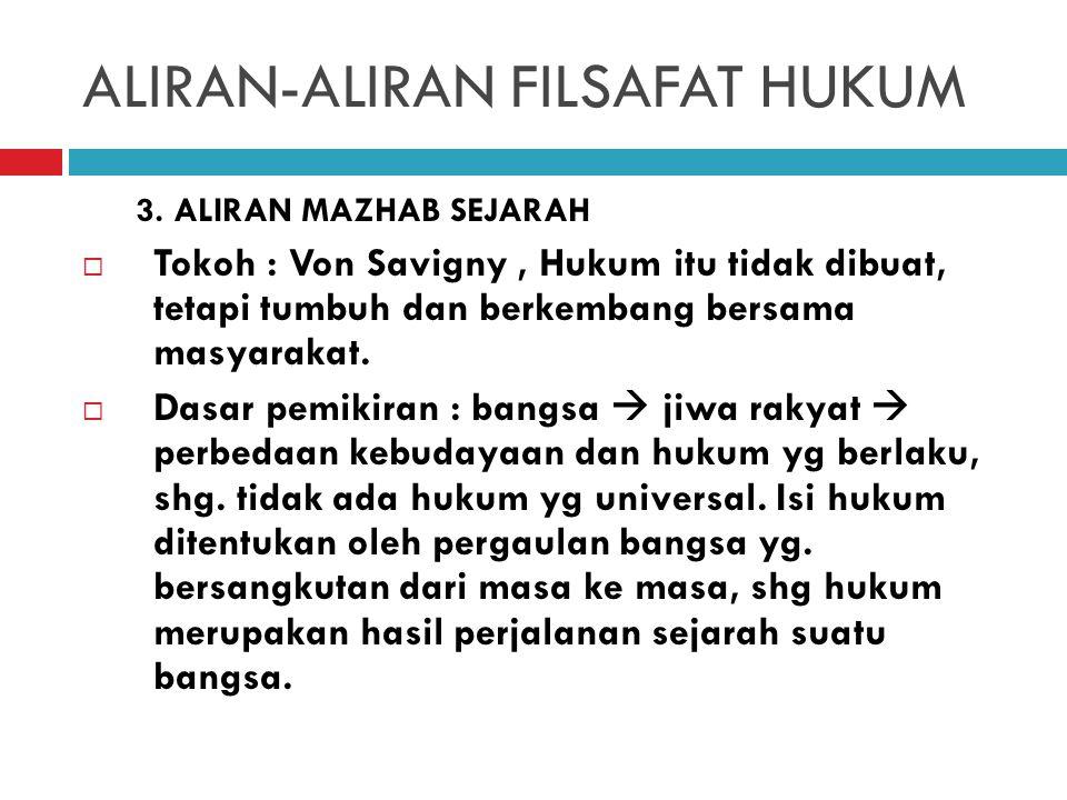ALIRAN-ALIRAN FILSAFAT HUKUM b.