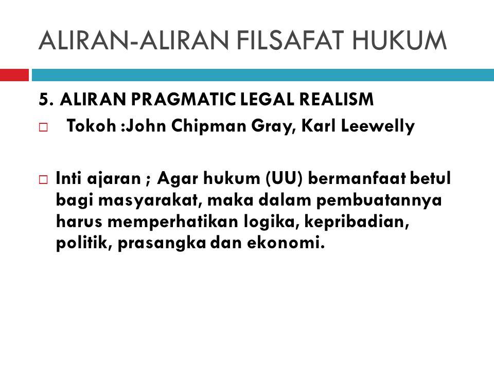 ALIRAN-ALIRAN FILSAFAT HUKUM 4.