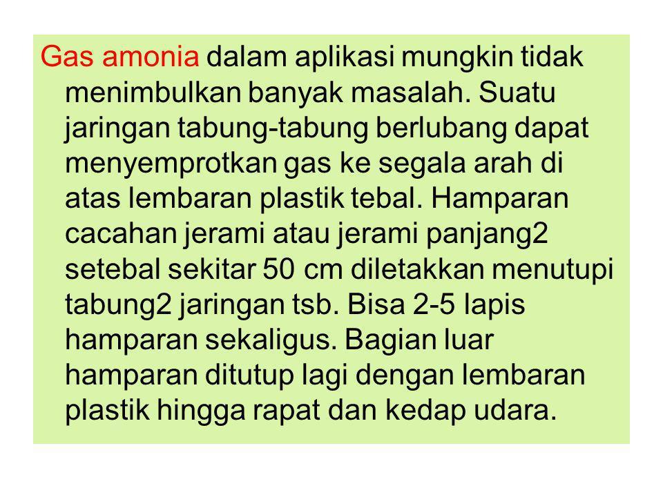 Gas amonia dalam aplikasi mungkin tidak menimbulkan banyak masalah.