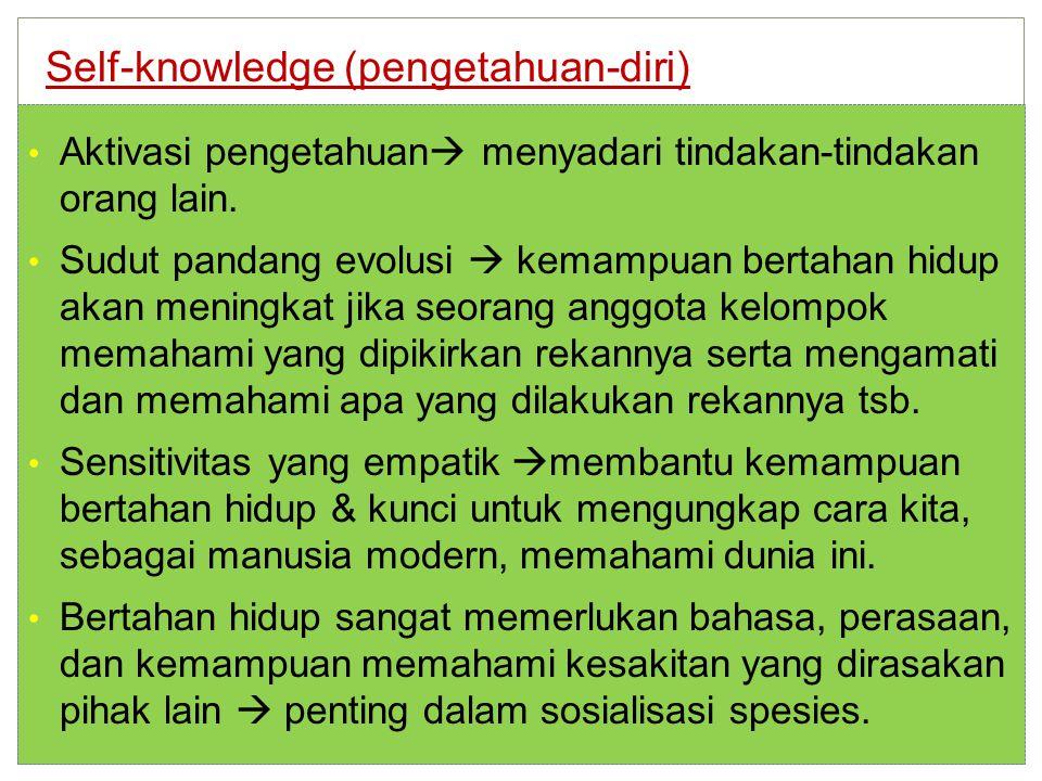 Aktivasi pengetahuan  menyadari tindakan-tindakan orang lain.