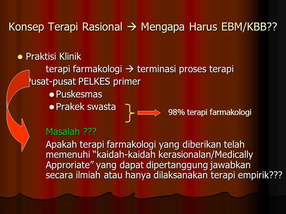 Konsep Terapi Rasional  Mengapa Harus EBM/KBB?.