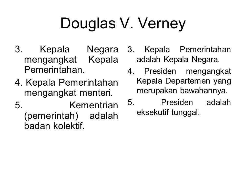Douglas V. Verney (Sistem Pemerintahan Parlementer dan Presidensil, Arendt Lipjhart ed.) Sistem pemerintahan parlementer 1. Majelis menjadi Parlemen.