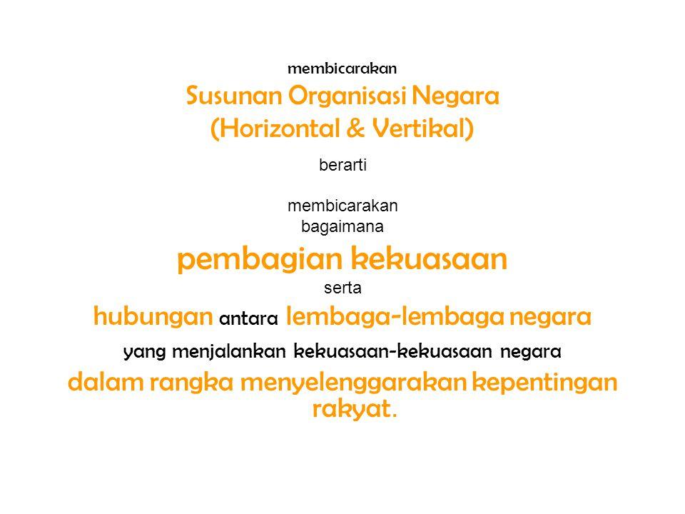 Pemerintahan Daerah di Indonesia Dasar Konstitusional (UUD 1945): Bab VI Pasal 18, 18 A, 18B UU No.32/2004 : -Urusan Pemerintah Daerah Bab III (Psl 10 s.d 18) adalah *selain Urusan Pemerintah (Pusat) : Psl 10 (1) *Secara Umum : Urusan Wajib & Urusan Pilihan : Psl 13(Prov) & Psl 14(Kab/Kota) -Urusan Pemerintah (Pusat) : Psl 10 (3) UU 32/2004 Politik LN, Han, Kam, Yustisi, Moneter & Fiskal Nasional, dan Agama.
