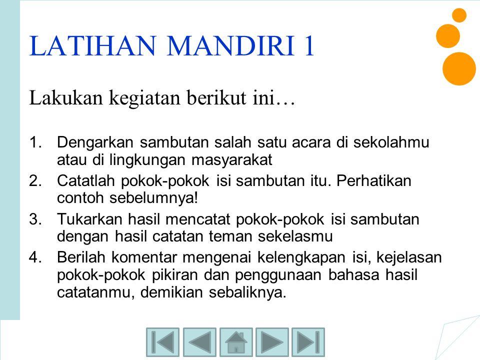 LATIHAN MANDIRI 3 Tulislah sebuah proposal kegiatan yang diselenggarakan di sekolahmu.
