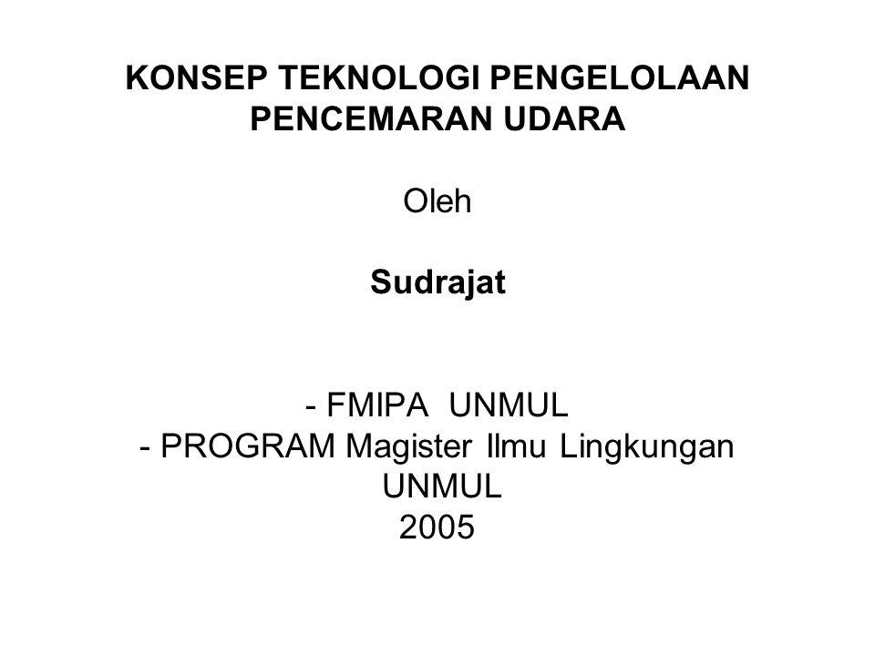 Tiap negara mempunyai : Ambien Air Quality Standard Emission Quality Standard Republik Indonesia : PP No.