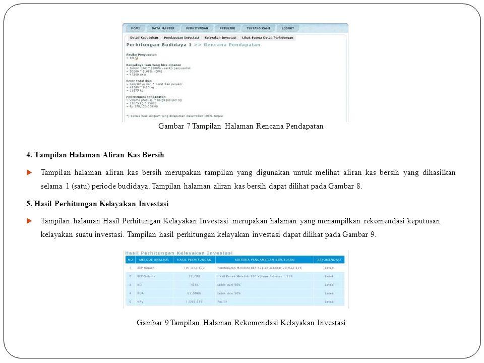 Gambar 7 Tampilan Halaman Rencana Pendapatan 4.