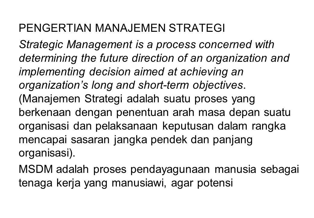PROSES STRATEGIS SDM 1.Perubahan lingkungan a.