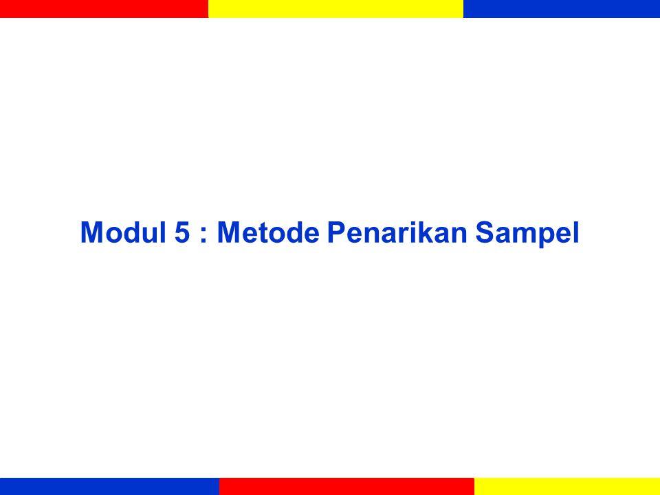 Modul 5 : Metode Penarikan Sampel