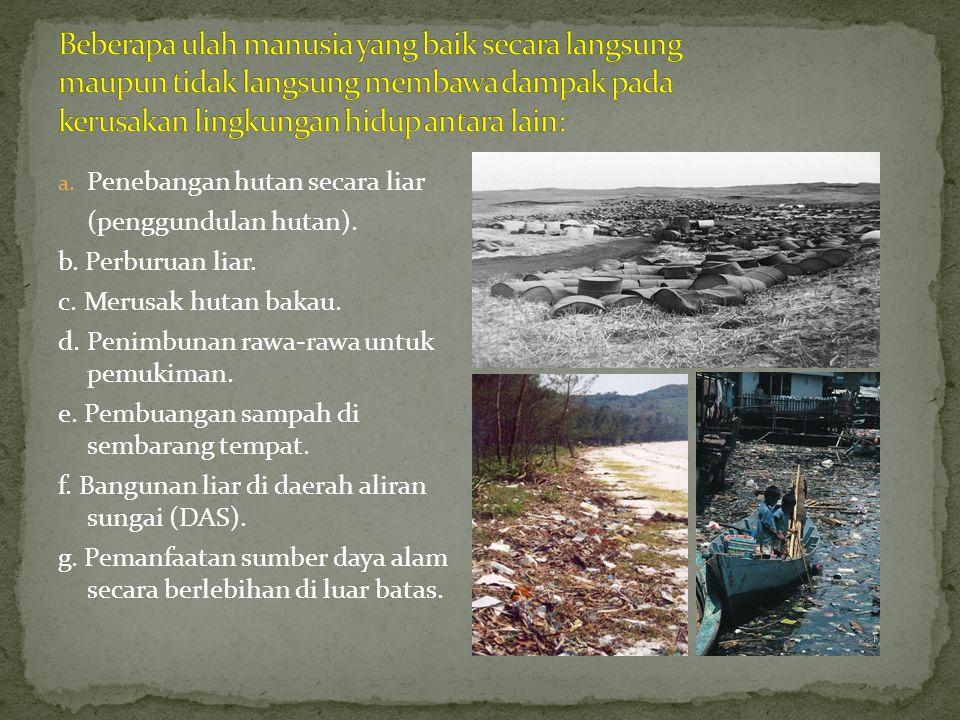 Pembangunan berwawasan lingkungan adalah usaha meningkatkan kualitas manusia secara bertahap dengan memperhatikan faktor lingkungan.