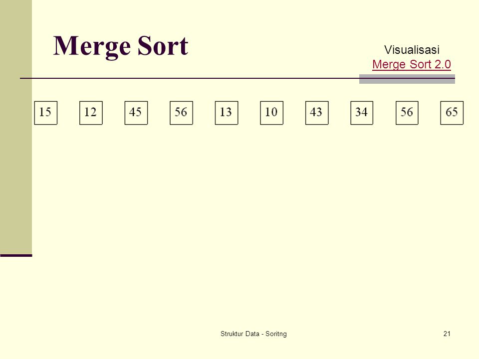 Struktur Data - Soritng21 Merge Sort Visualisasi Merge Sort 2.0