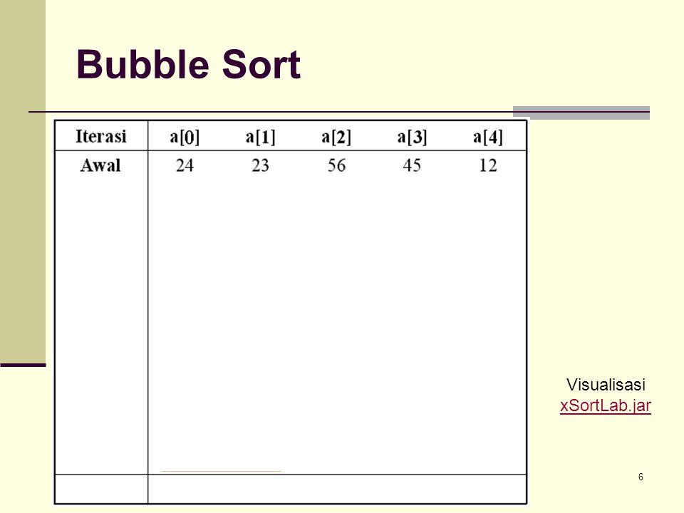 Struktur Data - Soritng6 Bubble Sort Swap Visualisasi xSortLab.jar