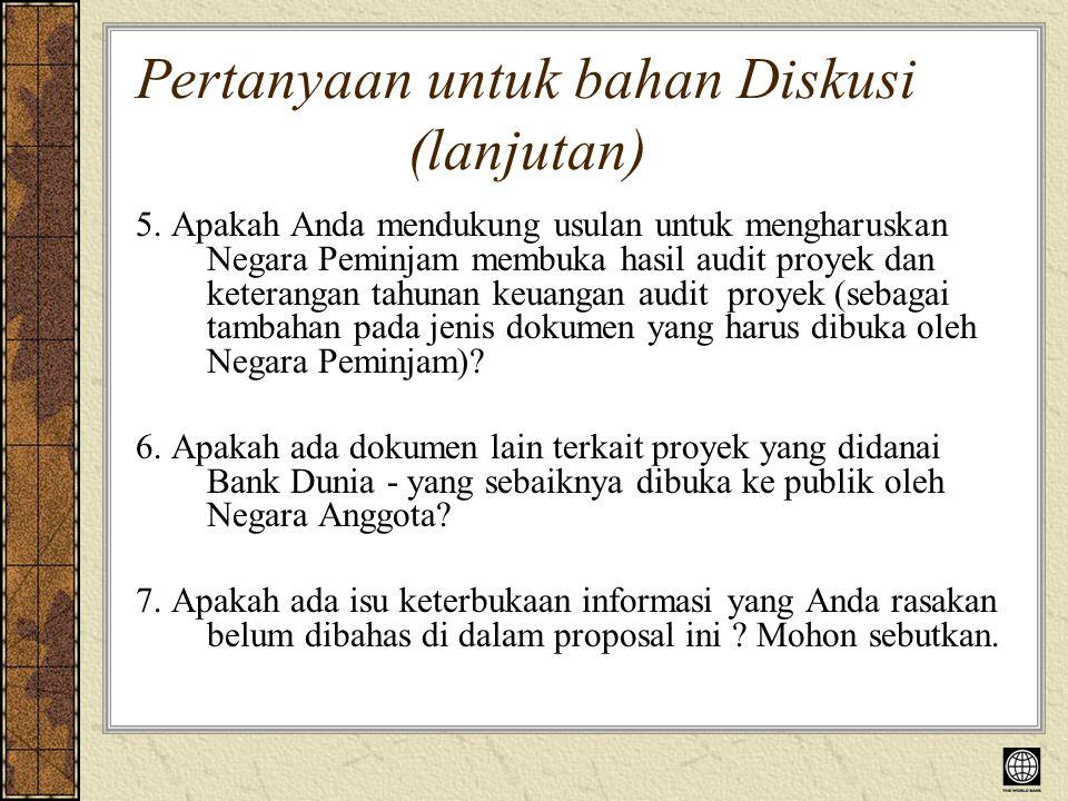 Pertanyaan untuk bahan Diskusi (lanjutan) 5.