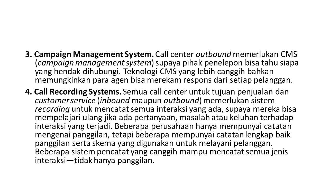 3.Campaign Management System.