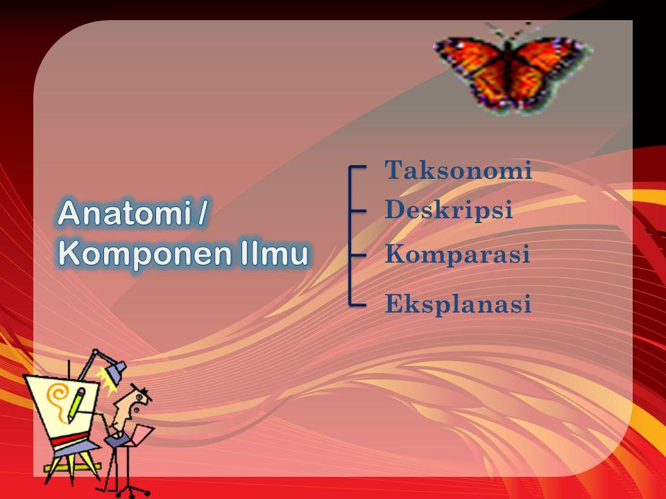 Taksonomi Deskripsi Komparasi Eksplanasi
