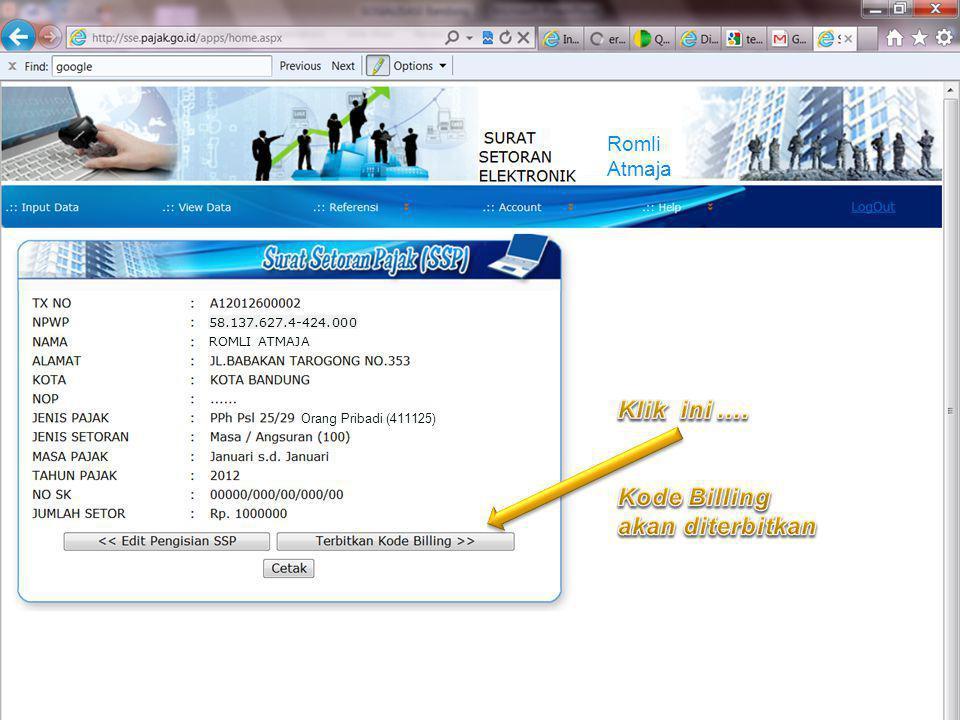 COMPANY LOGO Improving Process, Delivering Possibilities ROMLI ATMAJA 58.137.627.4-424.000 Orang Pribadi (411125) Romli Atmaja