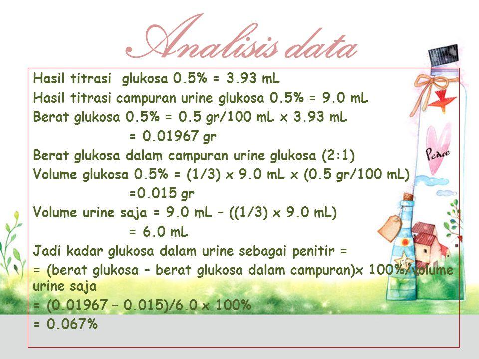 Adanya glukosa dalam urine dapat dinyatakan berdasarkan sifat glukosa yang dapat mereduksi ion-ion logam tertentu dalam larutan alkalis.