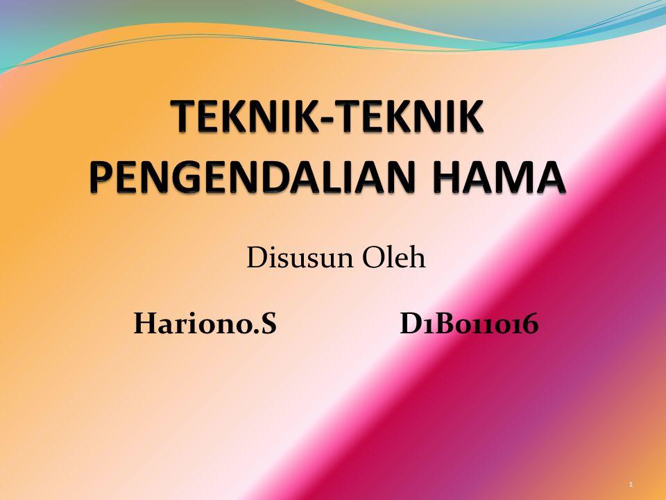 Disusun Oleh Hariono.SD1B011016 1