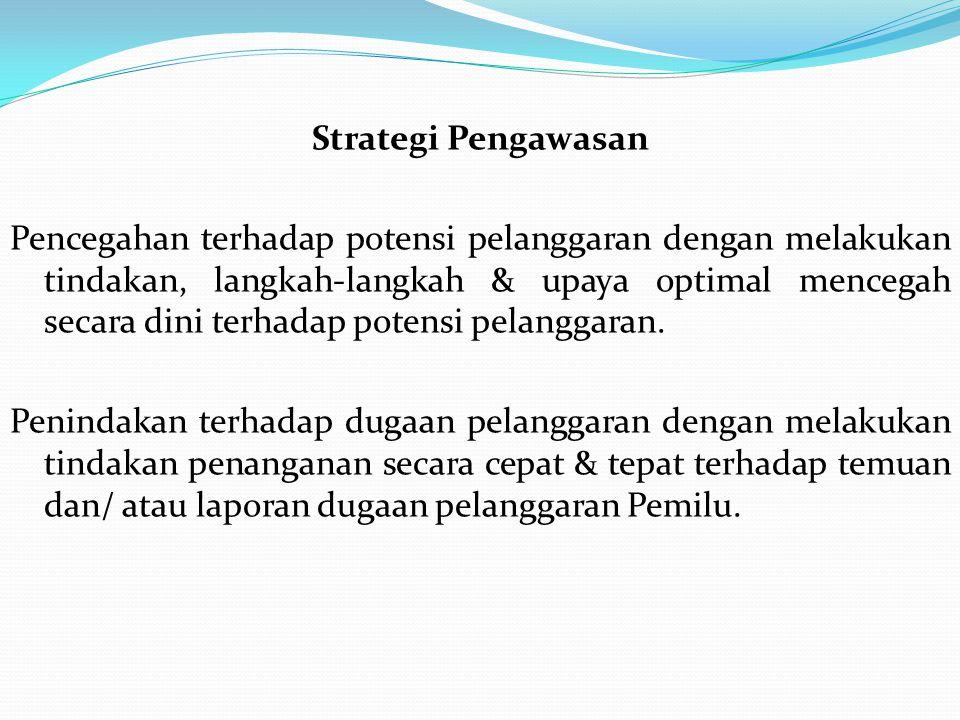 Strategi Pengawasan Pencegahan terhadap potensi pelanggaran dengan melakukan tindakan, langkah-langkah & upaya optimal mencegah secara dini terhadap potensi pelanggaran.