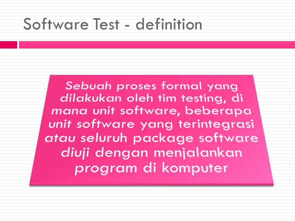 Software Test - definition