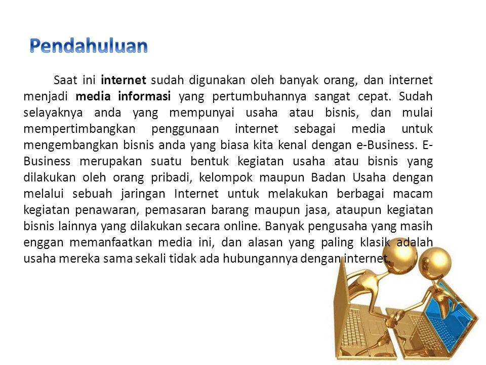 Saat ini internet sudah digunakan oleh banyak orang, dan internet menjadi media informasi yang pertumbuhannya sangat cepat. Sudah selayaknya anda yang