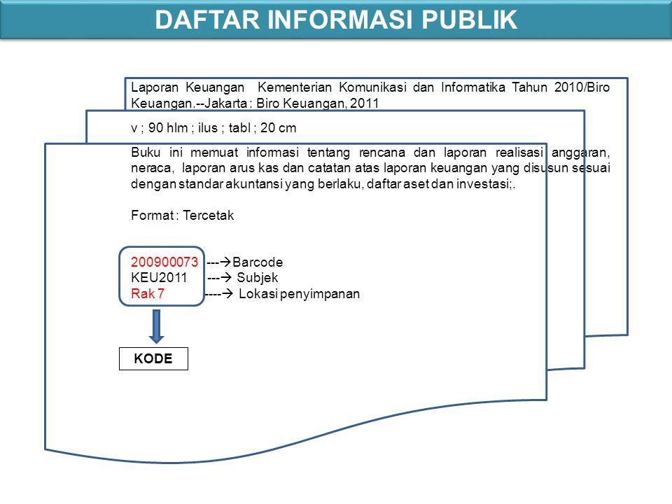 Laporan Keuangan Kementerian Komunikasi dan Informatika Tahun 2010/Biro Keuangan.--Jakarta : Biro Keuangan, 2011 v ; 90 hlm ; ilus ; tabl ; 20 cm Buku