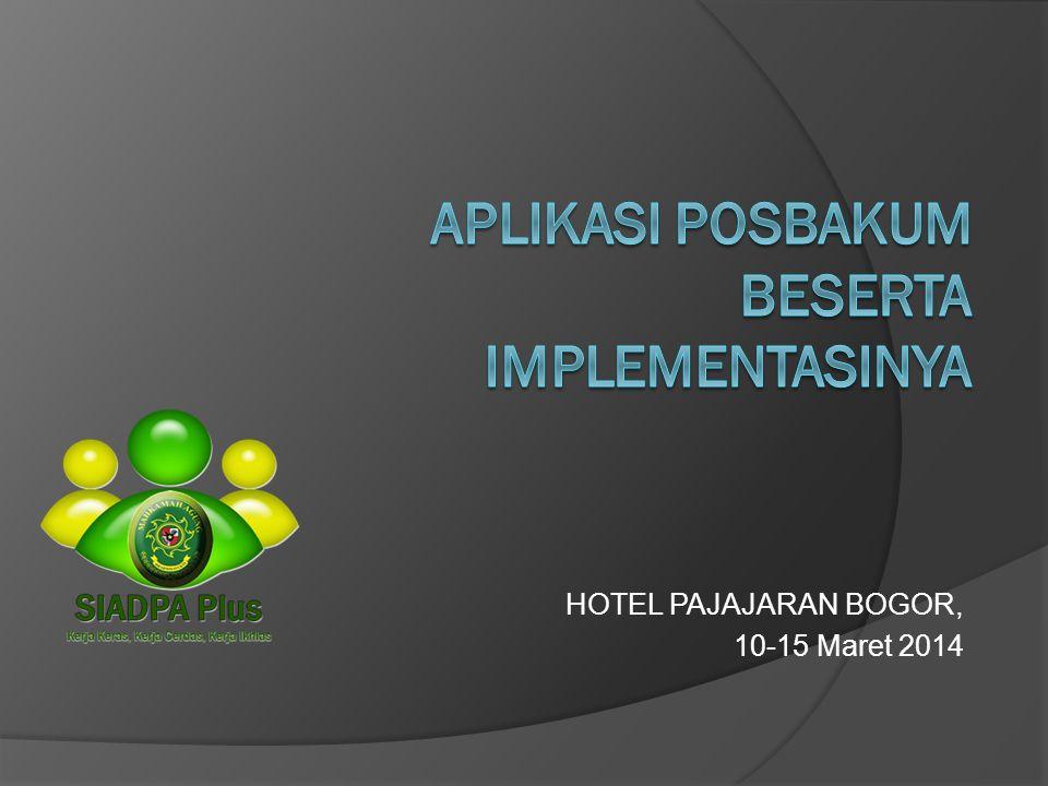 HOTEL PAJAJARAN BOGOR, 10-15 Maret 2014