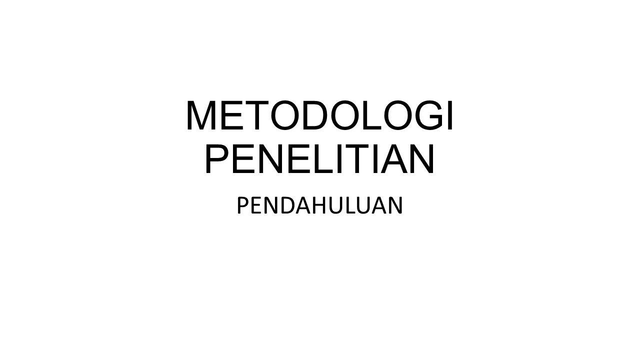 METODOLOGI PENELITIAN PENDAHULUAN