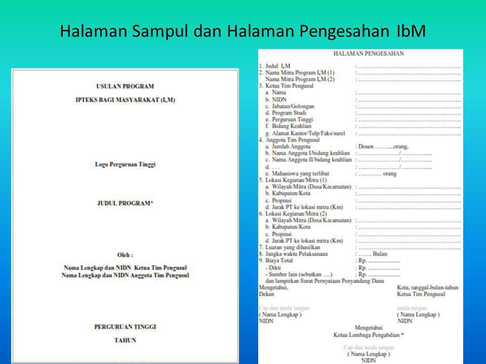 Halaman Sampul dan Halaman Pengesahan IbM