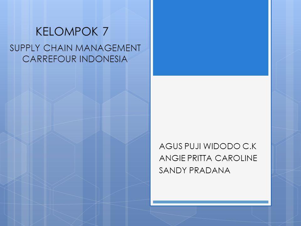 KELOMPOK 7 AGUS PUJI WIDODO C.K ANGIE PRITTA CAROLINE SANDY PRADANA SUPPLY CHAIN MANAGEMENT CARREFOUR INDONESIA