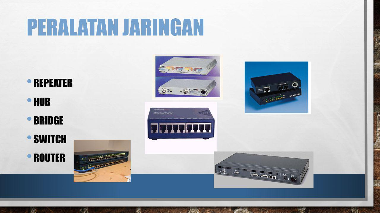 PERALATAN JARINGAN REPEATER HUB BRIDGE SWITCH ROUTER