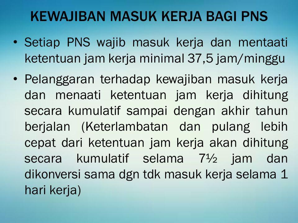 35 KEWAJIBAN PEJABAT YG BERWENANG MENGHUKUM Pasal 21 PP 53/2010 tentang Disiplin PNS 1.