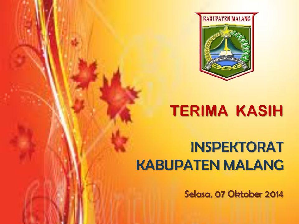 TERIMA KASIH INSPEKTORAT KABUPATEN MALANG Selasa, 07 Oktober 2014