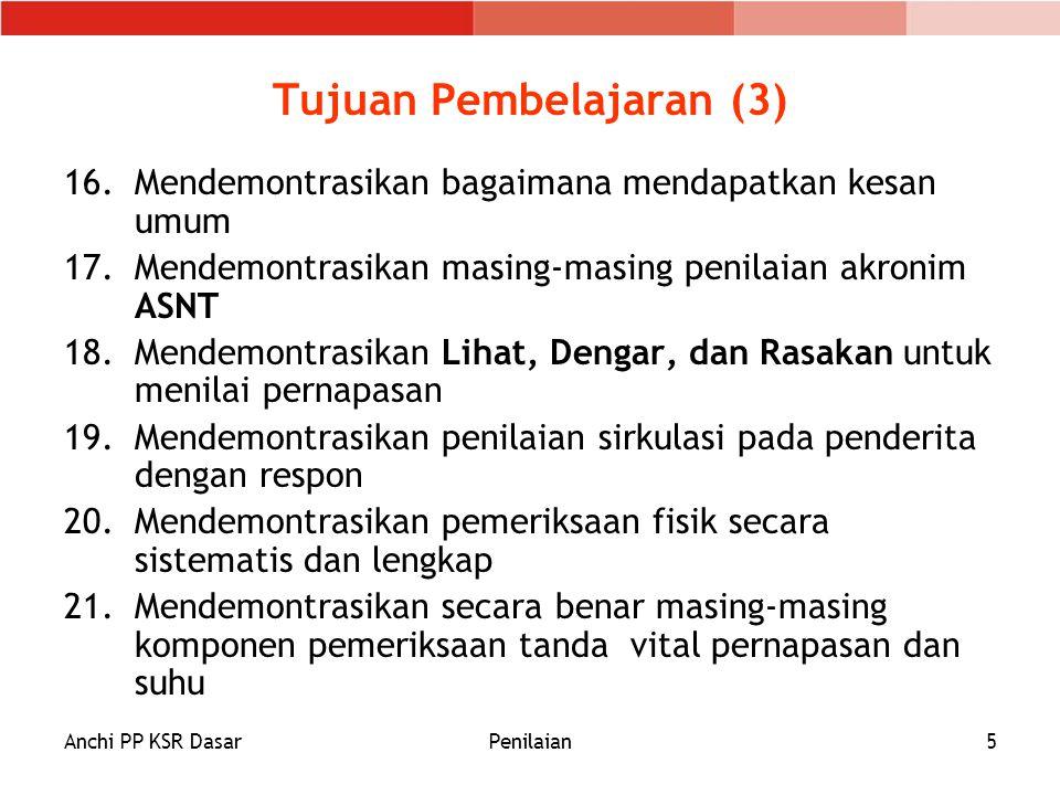 Anchi PP KSR DasarPenilaian5 Tujuan Pembelajaran (3) 16.Mendemontrasikan bagaimana mendapatkan kesan umum 17.Mendemontrasikan masing-masing penilaian