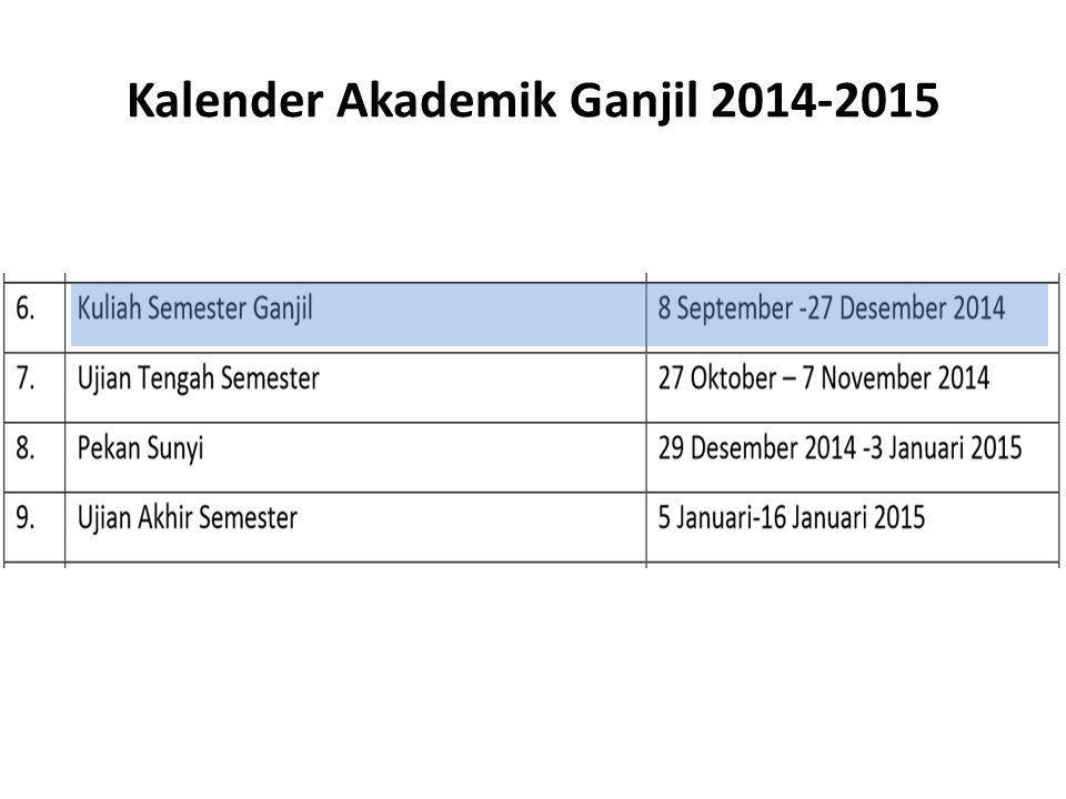 Kalender Akademik Ganjil 2014-2015