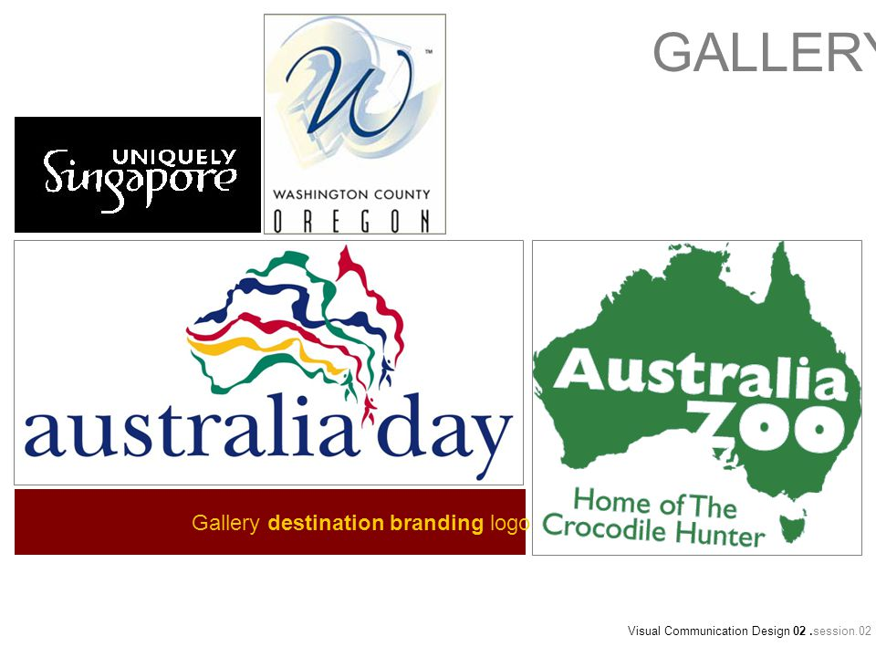 Gallery destination branding logo Visual Communication Design 02.session.02 GALLERY
