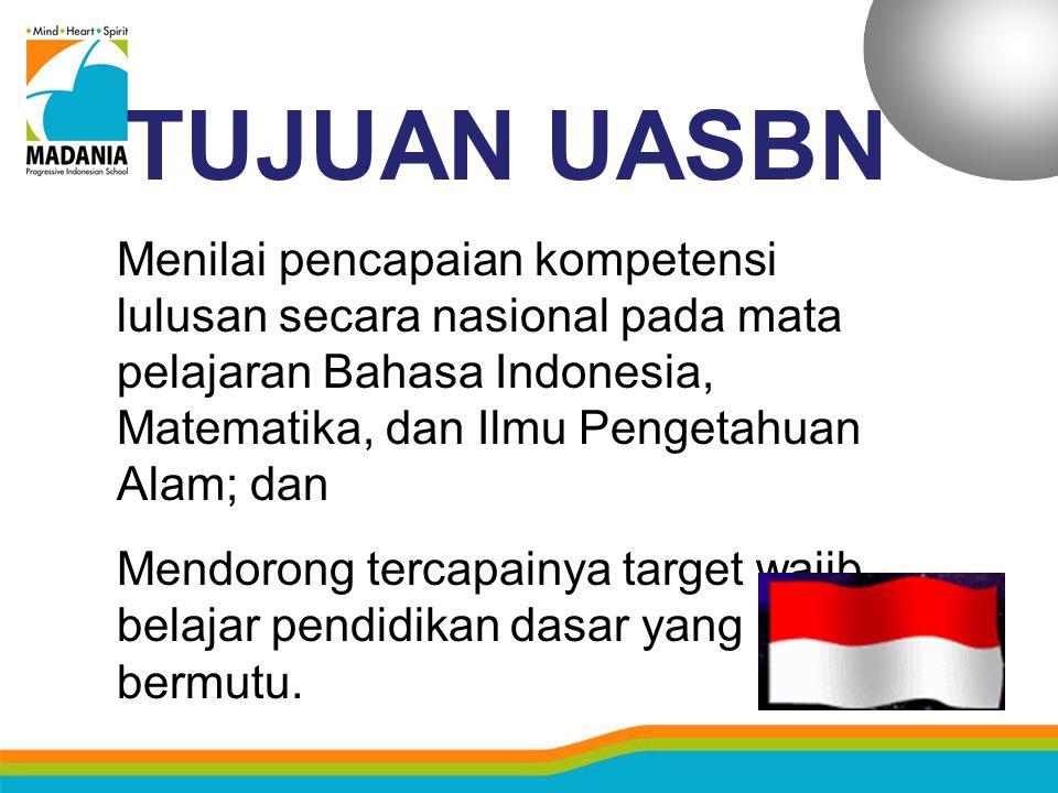 SOAL UASBN  25% soal yang ditetapkan BSNP dan berlaku secara nasional.