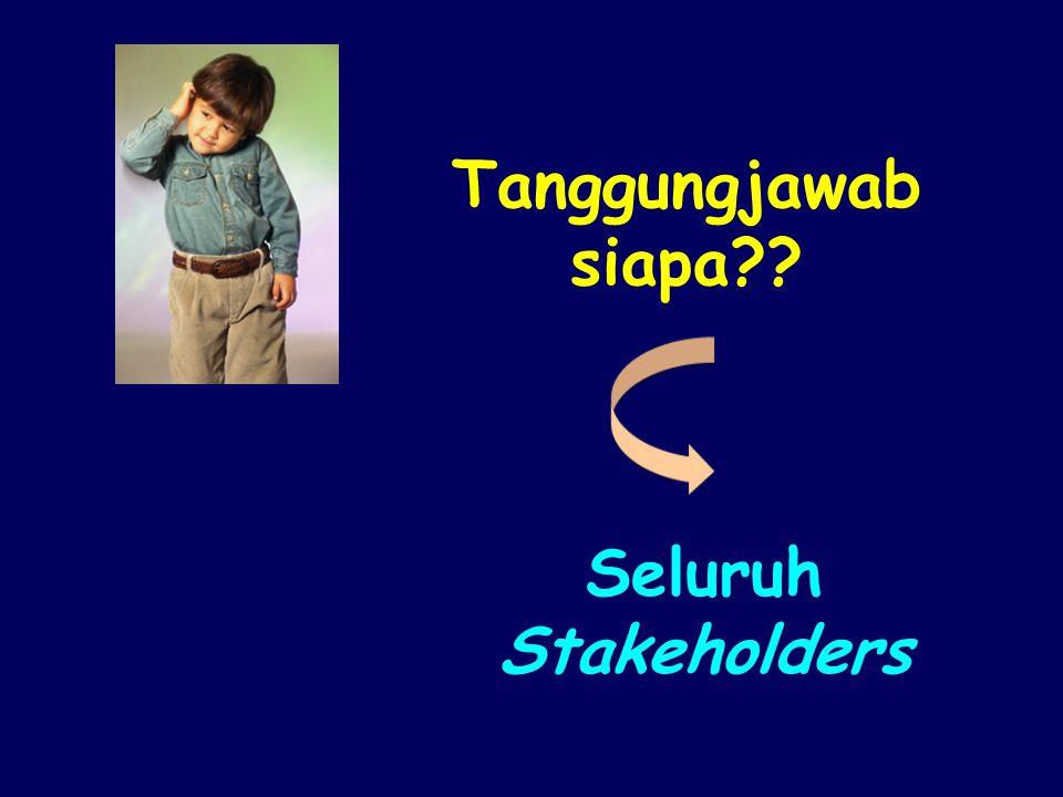 Tanggungjawab siapa Seluruh Stakeholders