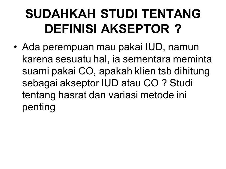 SUDAHKAH STUDI TENTANG DEFINISI AKSEPTOR .