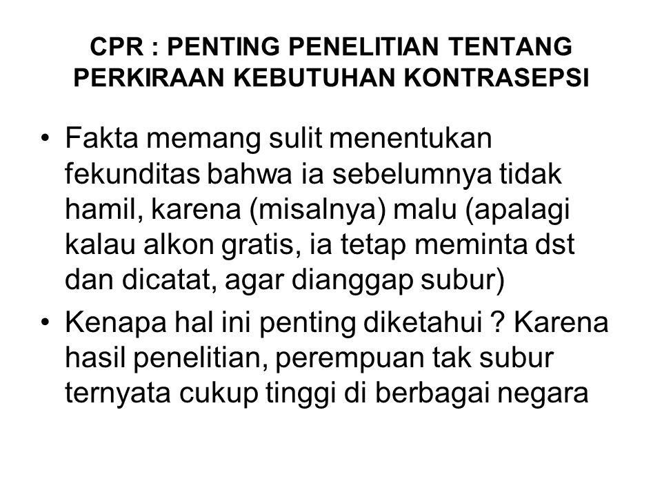 Anomali KB di Jawa Tengah Persentase Wanita Kawin menggunakan alat KB Moderen : 61,5 % IUD : 3,6 % Susuk : 5,8 % Suntik : 33,9 % Steril : 4,7 % CO : 2,8 % Steril Pria : 0,4 % Pil : 10,1 %
