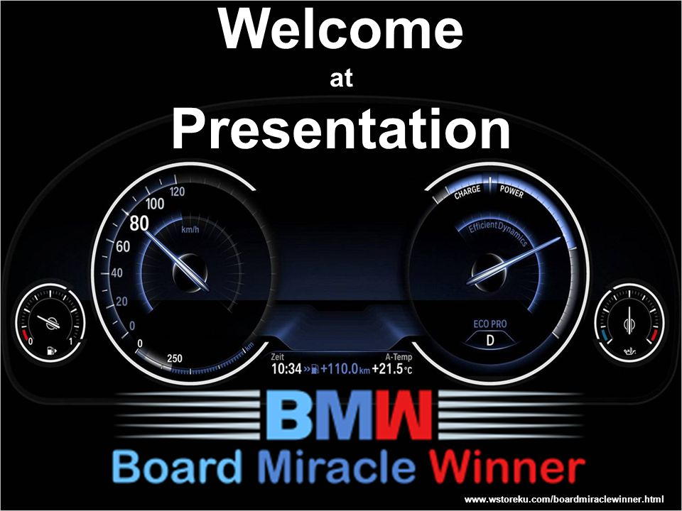 Welcome at Presentation www.wstoreku.com/boardmiraclewinner.html