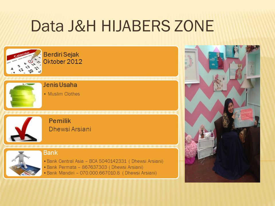Alamat Jakarta – Indonesia Griya Madani 3 no 4 RT.003 RW.001 Jatiluhur Jatiasih Bekasi Selatan 17425 Telp : +62813-80074513, +628159679465 PIN BB : 7798c3e6 atau 25A97568 : @hijaberszone Twitter : @hijaberszone Email : cs@hijaberszone.com /jhrokpanjang@yahoo.co.id cs@hijaberszone.com Facebook : hijaberszone Website : www.hijaberszone.com
