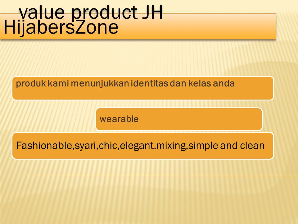 value product JH HijabersZone value product JH HijabersZone produk kami menunjukkan identitas dan kelas anda wearable Fashionable,syari,chic,elegant,mixing,simple and clean