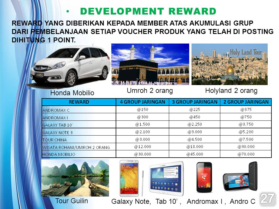 Honda Mobilio Umroh 2 orangHolyland 2 orang Tour Guilin Galaxy Note, Tab 10', Andromax I, Andro C DEVELOPMENT REWARD DEVELOPMENT REWARD REWARD YANG DI