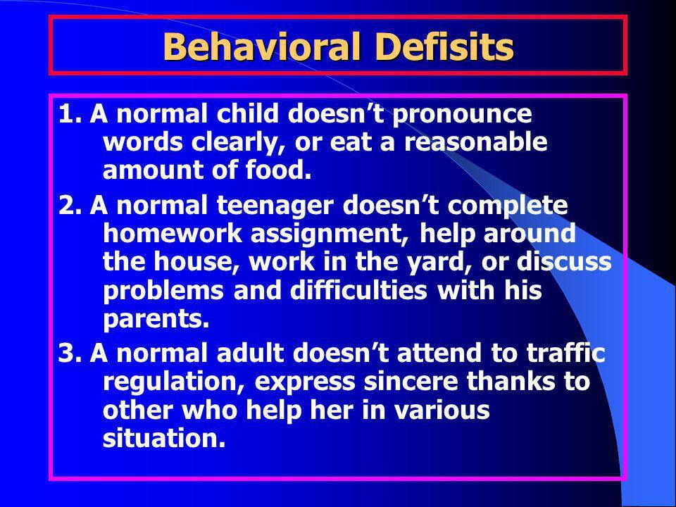 Behavioral Defisits 1.