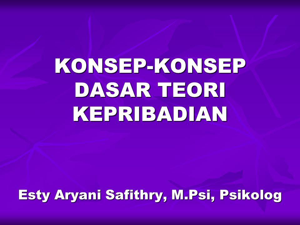 KONSEP-KONSEP DASAR TEORI KEPRIBADIAN Esty Aryani Safithry, M.Psi, Psikolog