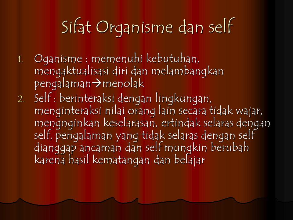 Sifat Organisme dan self 1.