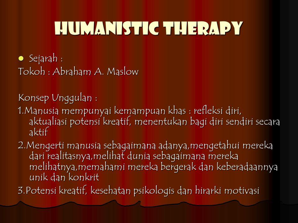 Humanistic therapy Sejarah : Sejarah : Tokoh : Abraham A.